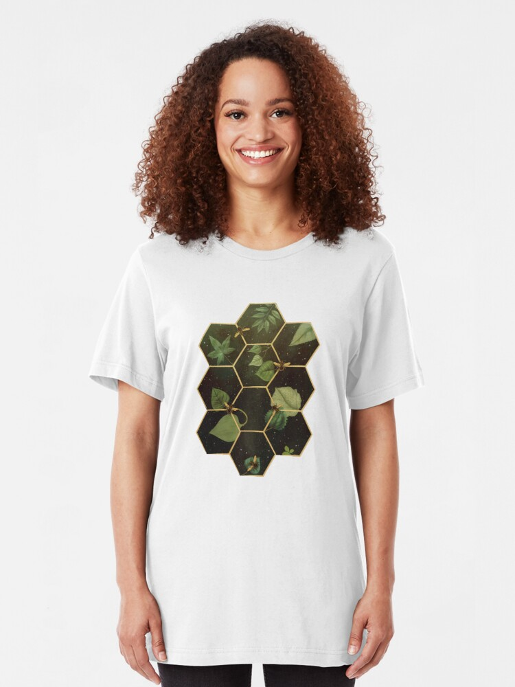 Alternate view of Bees in Space Slim Fit T-Shirt