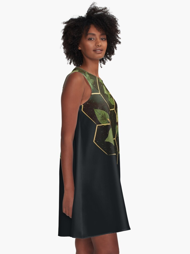 Alternate view of Bees in Space A-Line Dress