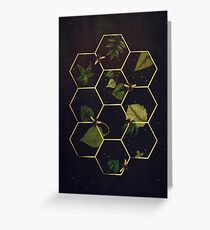 Bees in Space Greeting Card