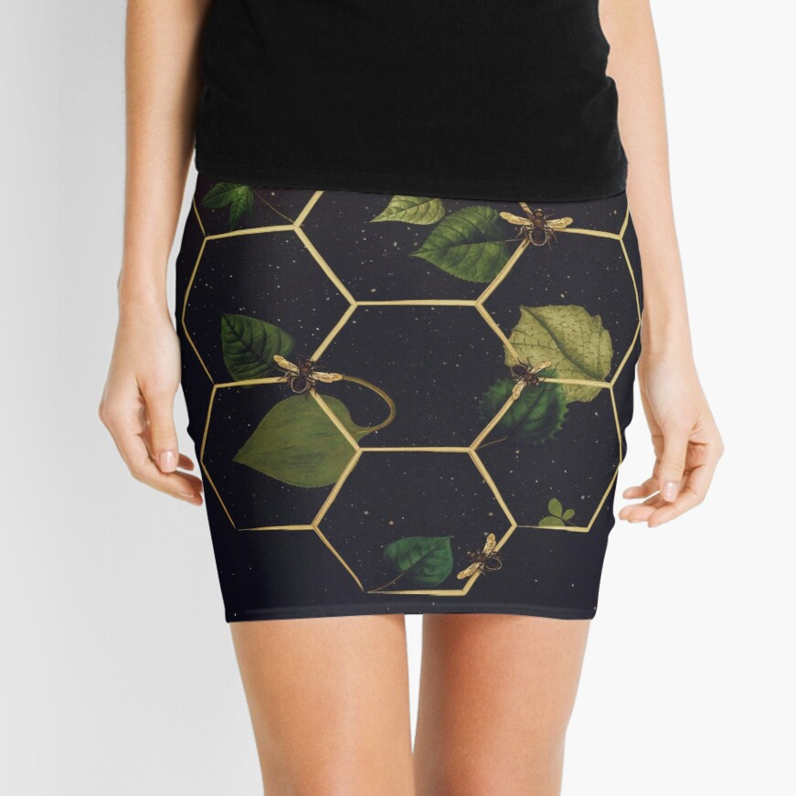 Bees in Space Mini Skirt