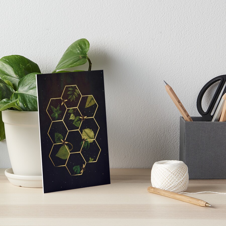 Bees in Space Art Board Print