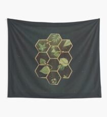 Bees in Space Wall Tapestry