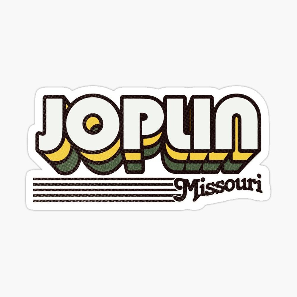 Joplin, Missouri | Retro Stripes Sticker