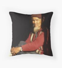 Man of Mien Tribe Throw Pillow