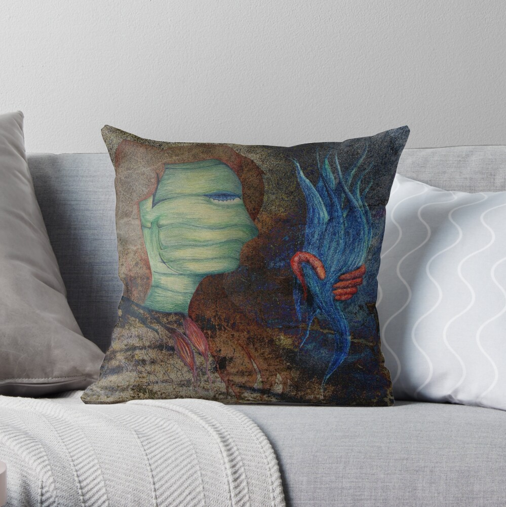 The Silencing of Liberty Throw Pillow