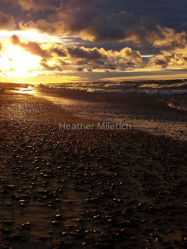 Stormy Superior Sunset by Heather Newkirk