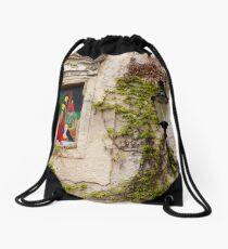 Painted Windows 2 Drawstring Bag