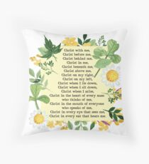 St. Patrick's Breastplate Prayer Throw Pillow