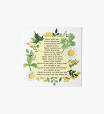 St. Patrick's Breastplate Prayer Art Board Print