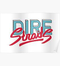 Dire Straits band logo Poster