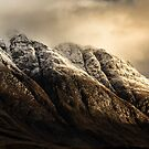 Glencoe mountain light by Angi Wallace