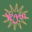 vegan - simple starburst print by chipsandsalsa