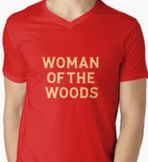 Woman of the woods Men's V-Neck T-Shirt