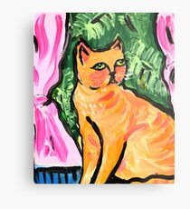 Peachy the Cat Metal Print