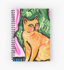 Peachy the Cat Spiral Notebook