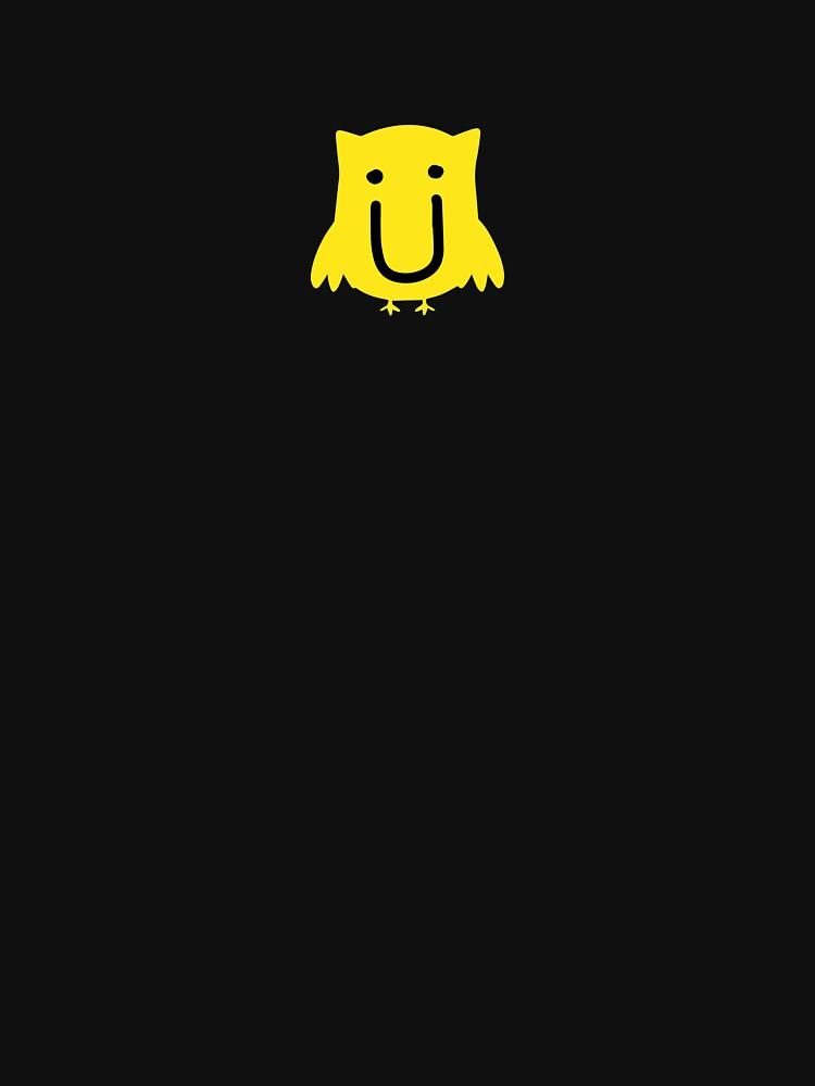 jack u owl yellow unisex t shirt by jerfigr redbubble