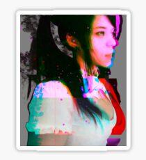 Glitched VHS Girl - Brittany Venti Glitch Art Sticker