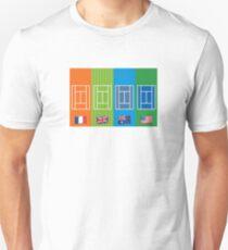 Land Emoji Grand Slam Gerichte Slim Fit T-Shirt