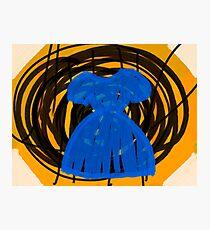 Little Blue Dress Photographic Print