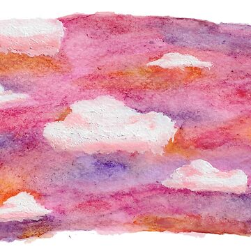 Watercolor Pink Skies by feeble-platypus