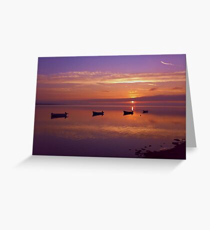 Sunset at the Estuary Greeting Card