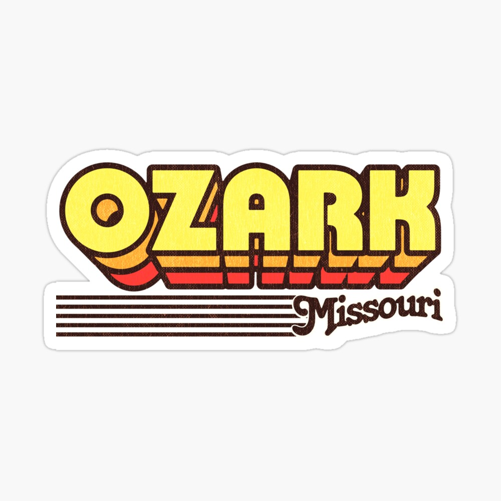 Ozark, Missouri | Retro Stripes Sticker