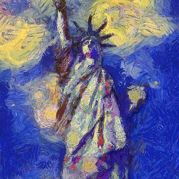 Freedom in flames Van Gogh Monet Cézanne by Ariela-Alez