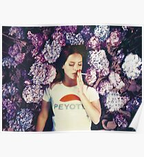 Lana Laying in Flowers Poster