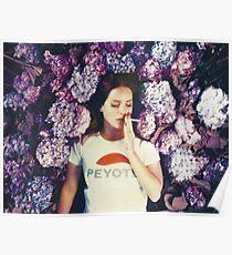 Lana, der in Blumen legt Poster