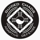 Guided Chaos Trademarked white on black circle swag! by GuidedChaos