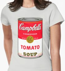 Andy Warhol Campbell Soup Can Pop art print Women's Fitted T-Shirt