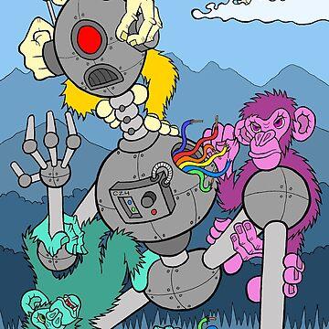 Monkey Robot Battle by bgilbert