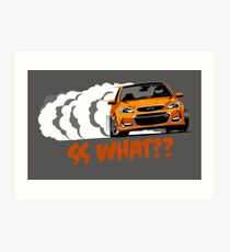 2016-17 Chevrolet SS Orange Art Print