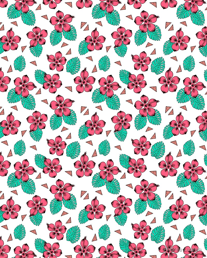 Hibiscus Hawaii Flower Pattern Print By Andrea Lauren By Andrea
