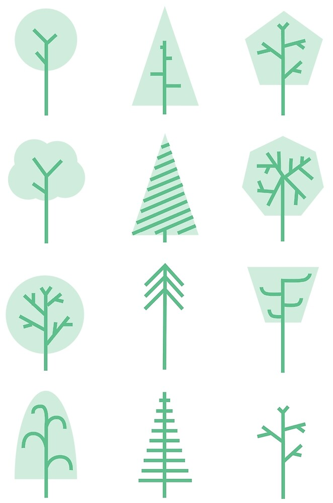 Forest icons by Sydney Koffler