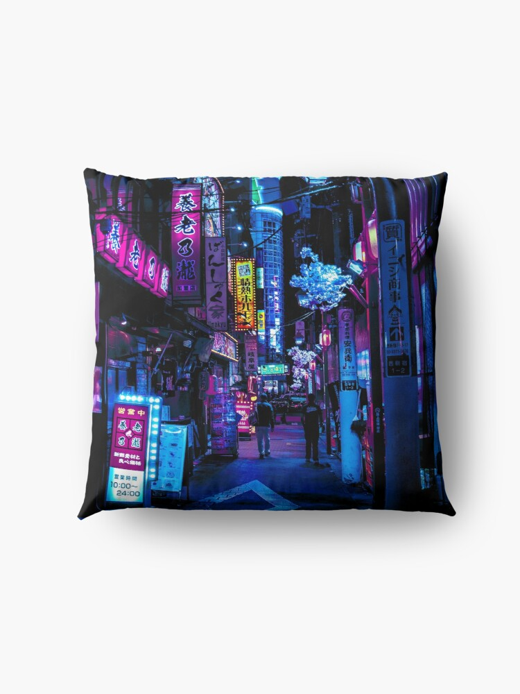 Alternate view of Blade Runner Vibes Floor Pillow