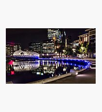 Docklands at night  Photographic Print