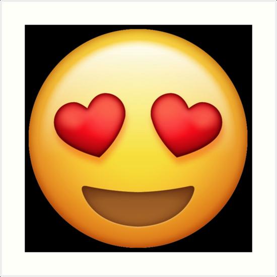 Heart face emoji