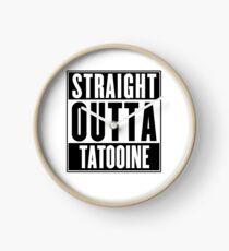 Straight Outta Tatooine (Star Wars) - T-shirt Clock
