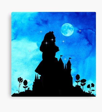 Alicia en el país de las maravillas - Magical Watercolor Night Lienzo