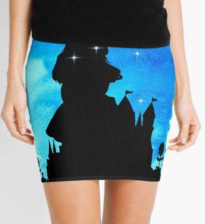 Alicia en el país de las maravillas - Magical Watercolor Night Minifalda