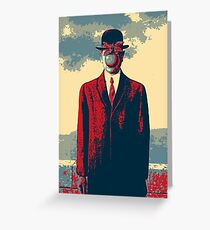 Masterpieces Revisited - The Son of Man by Rene Magritte Greeting Card