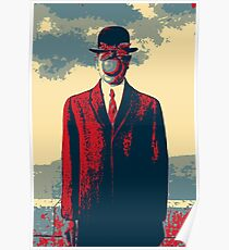 Masterpieces Revisited - The Son of Man by Rene Magritte Poster