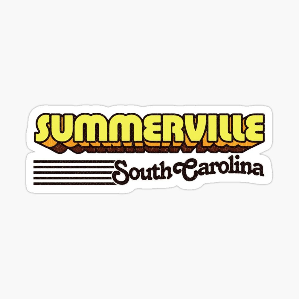 Summerville, South Carolina | Retro Stripes Sticker