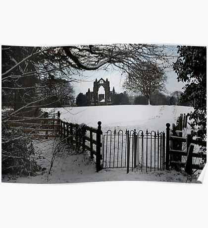 Guisborough Priory in The Snow! Poster