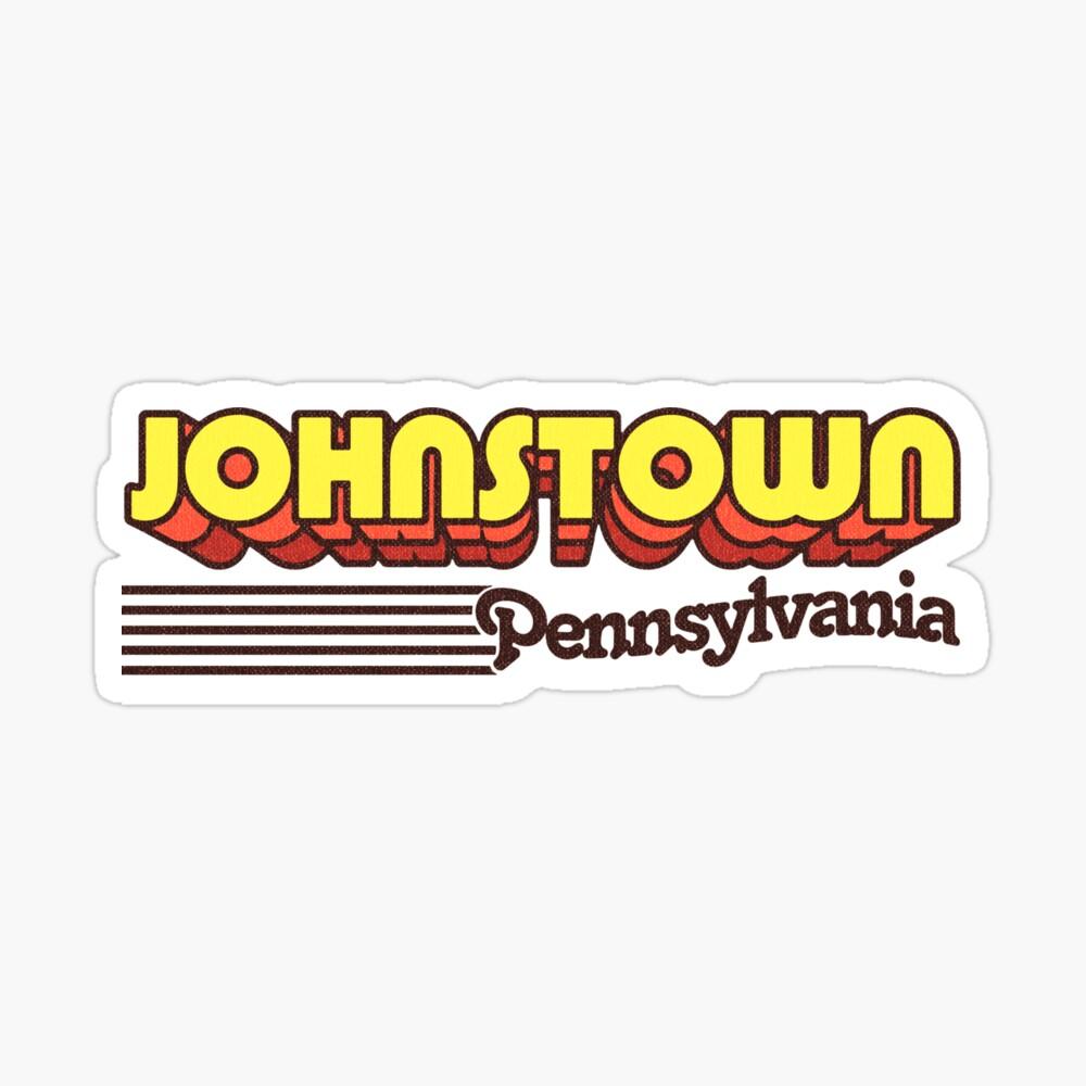 Johnstown, Pennsylvania | Retro Stripes Sticker