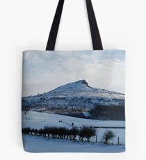 Roseberry Topping in the snow Tote Bag