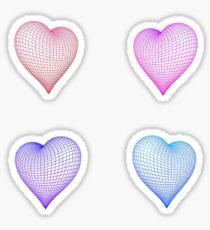 geometric hearts Sticker