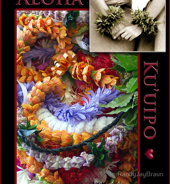 Hawaiian Valentine Card by Randy Jay Braun