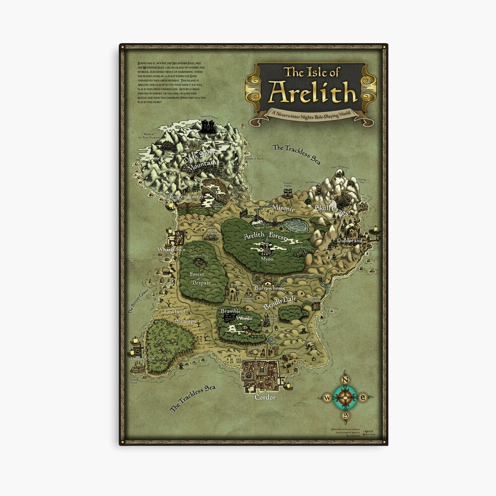 Arelith Karte Leinwanddruck